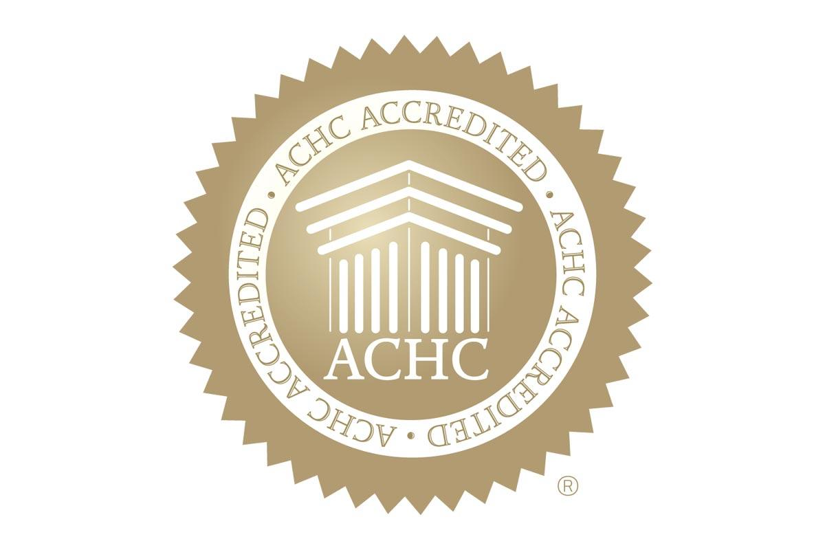 ACHC Accredited gold seal